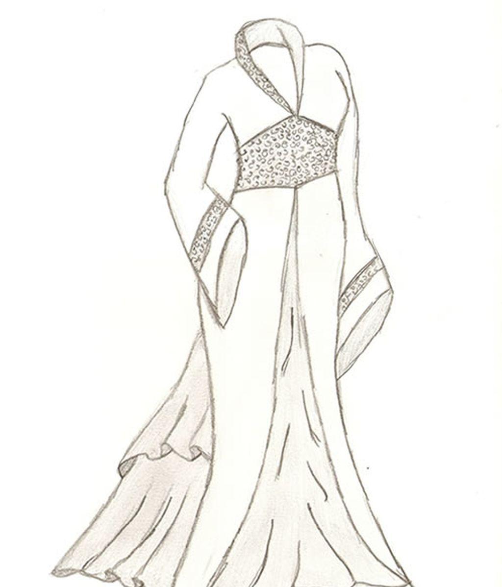 Vestido asiático blanco