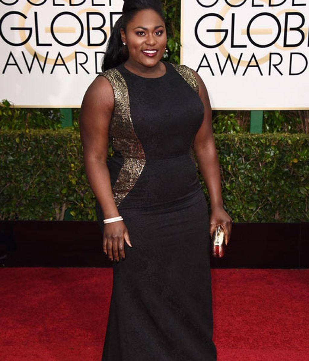 Danielle Brooks en la alfombra roja de los Globos de Oro