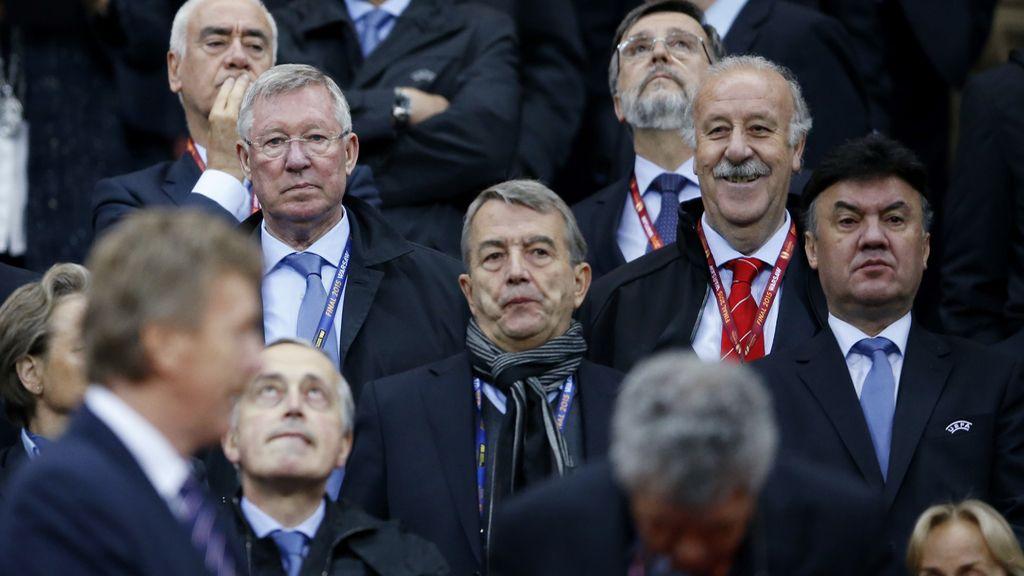 Espectadores de lujo en la final de la Europa League
