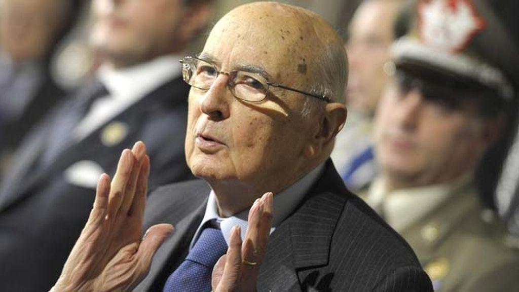 El presidente italiano, Giorgio Napolitano