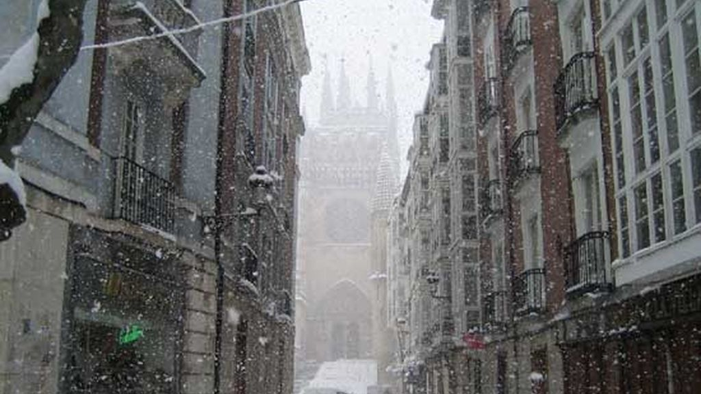 Nieve sobre Burgos