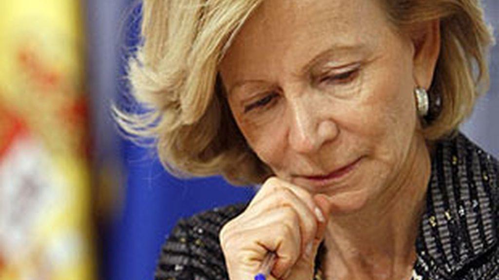 Imagen de archivo de la vicepresidenta del Gobierno y ministra de Economía, Elena Salgado. Foto: EFE.