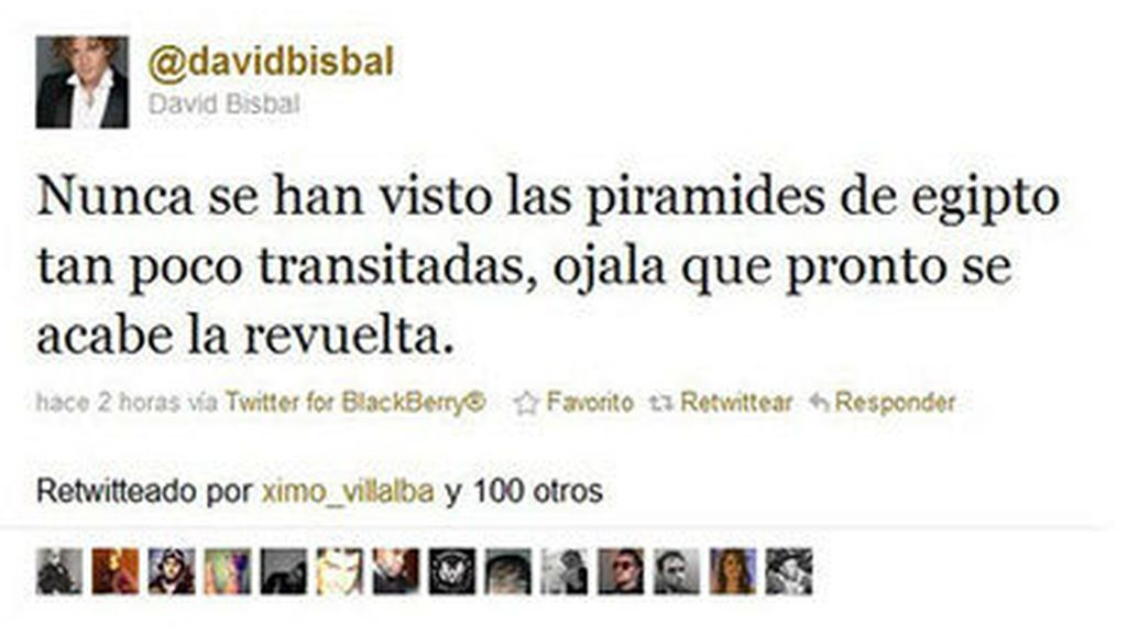 Tweet de David Bisbal en 2012
