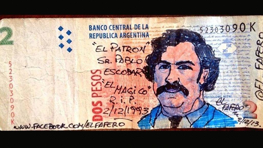 Arte en billetes argentinos