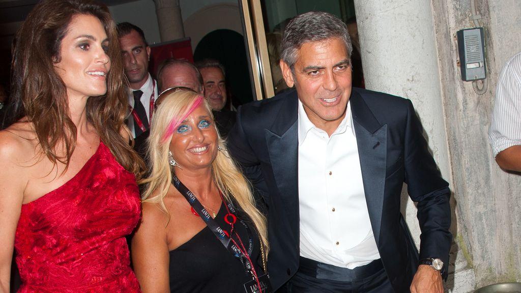 Cindy Crawford y George Clooney, en el festival de Venecia