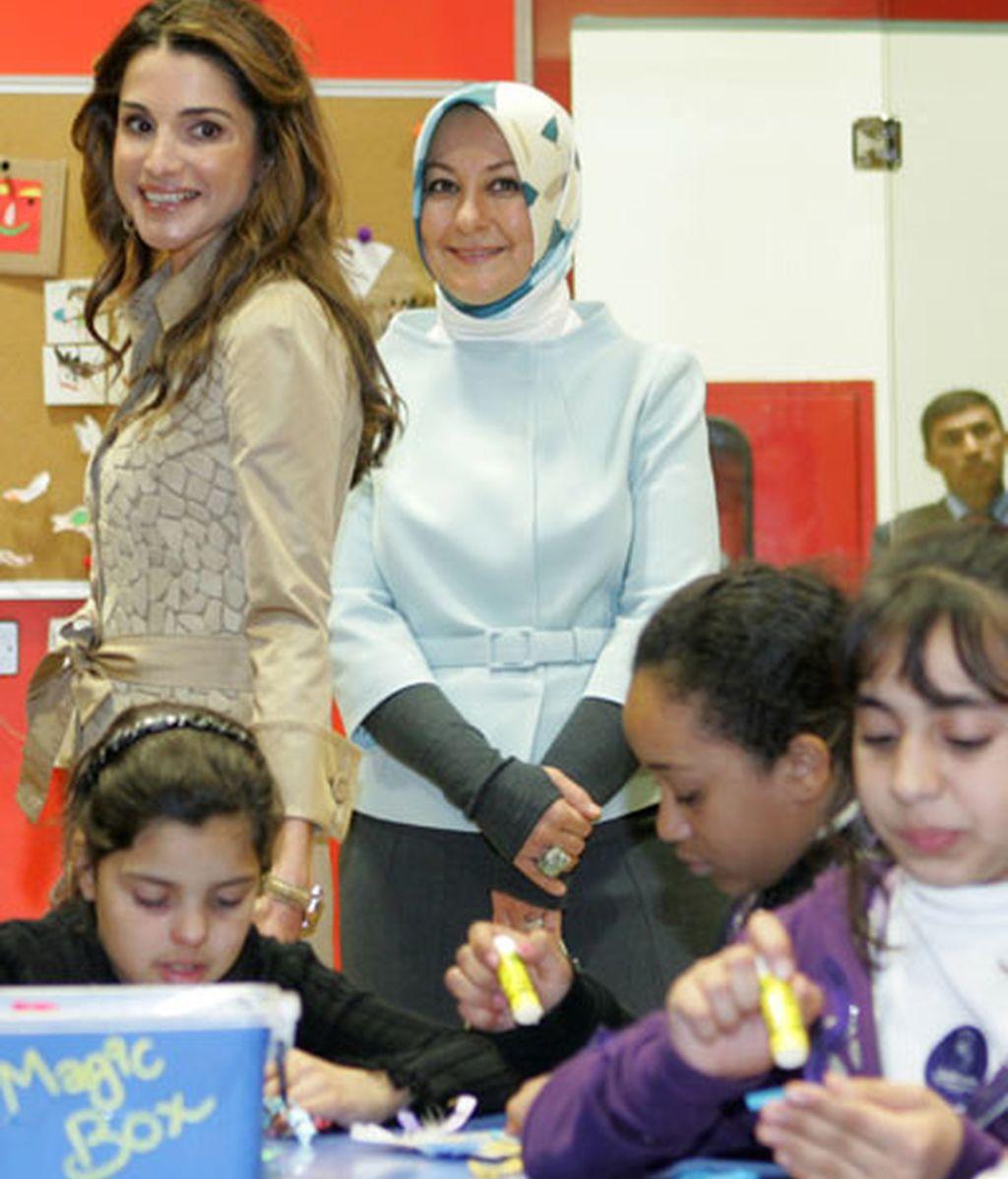 Rania en el Museo de los Niños, en Amman