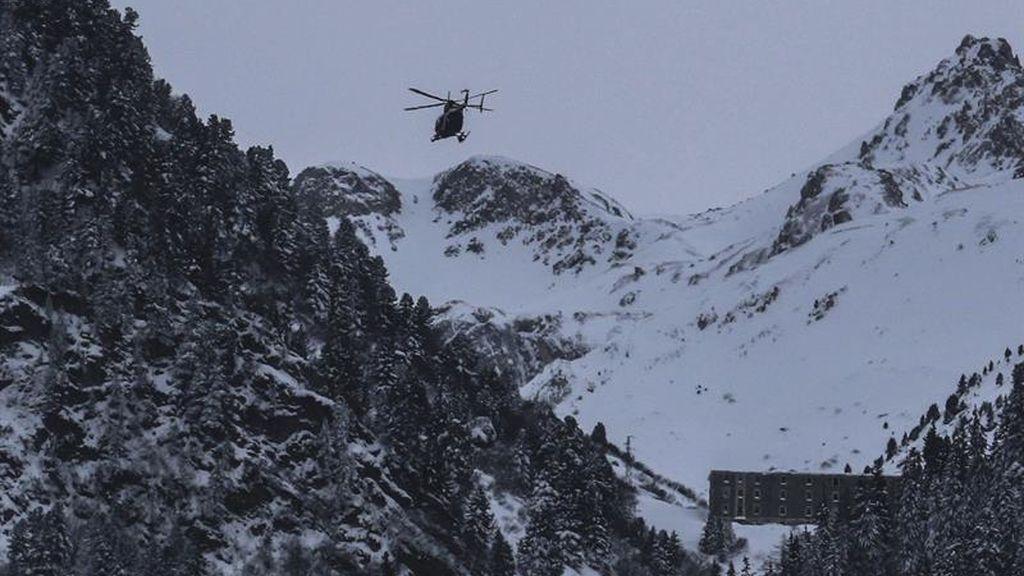 Avalancha de nieve en los Alpes