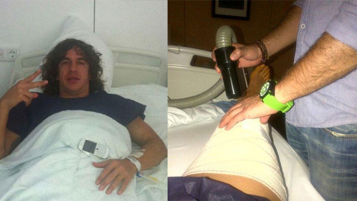 Puyol se recupera gracias a su hermano