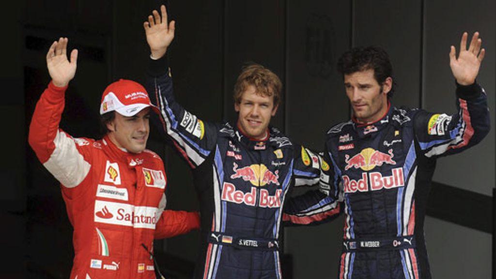 Red Bull ha 'aplastado' a sus rivales en la clasificación de Hungaroring: Vettel 1º y Webber 2º, por delante de Alonso. Foto: EFE