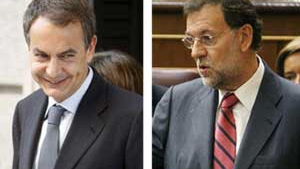 José Luis Rodríguez Zapatero y Mariano Rajoy han vuelto a verse las caras en El Congreso para hablar de la crisis. Vídeo: ATLAS