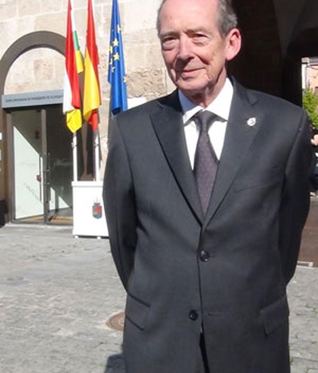 José Manuel Blecua, director de la Real Academia Española y presidente de la Fundéu BBVA, en San Millán de la Cogolla. Foto: Inma Maldonado