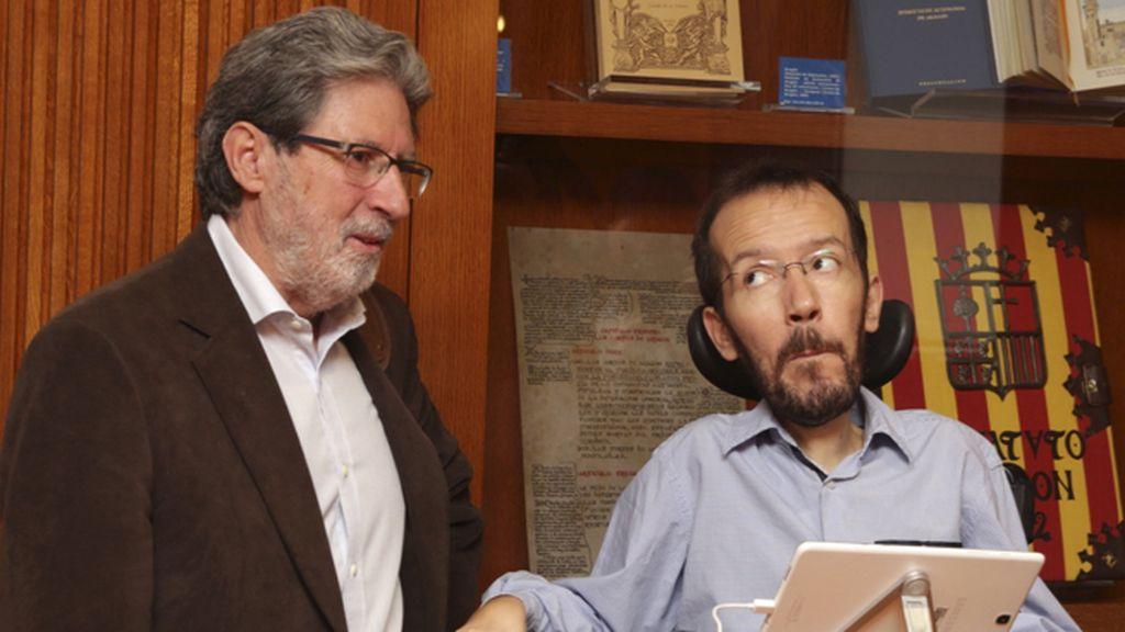 Echenique y Barrena se reúnen en Zaragoza