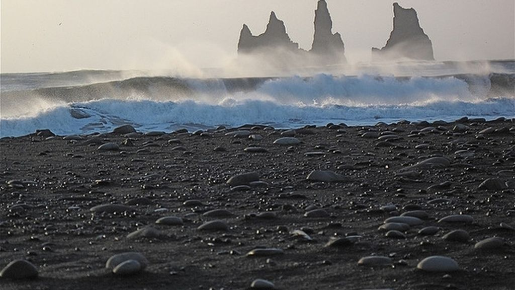 Playa negra, Islandia