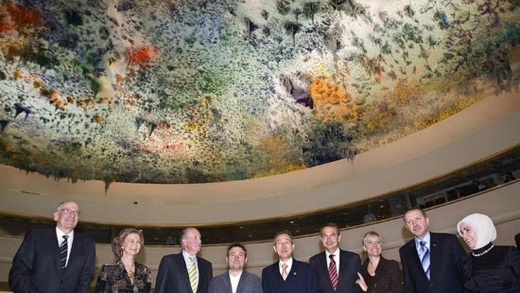 2008: Zapatero en la inauguración de la Sala de los Derechos Humanos