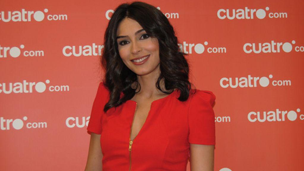 Marta Fernández visita Cuatro.com