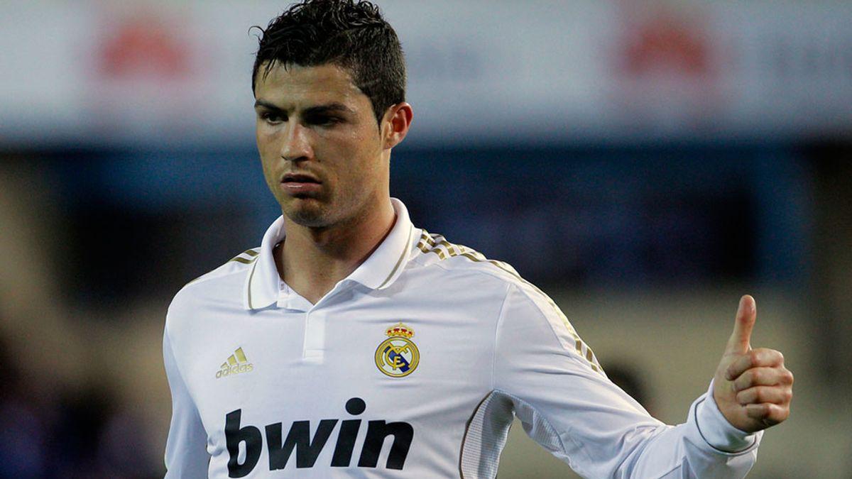 Cristiano Ronaldo en el derbi ante el Atlético de Madrid