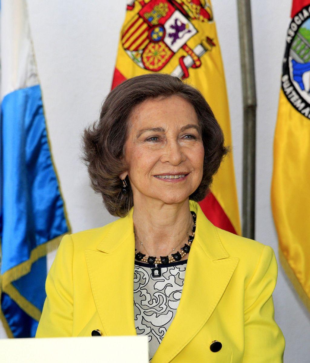 Doña Sofía, de visita en Guatemala