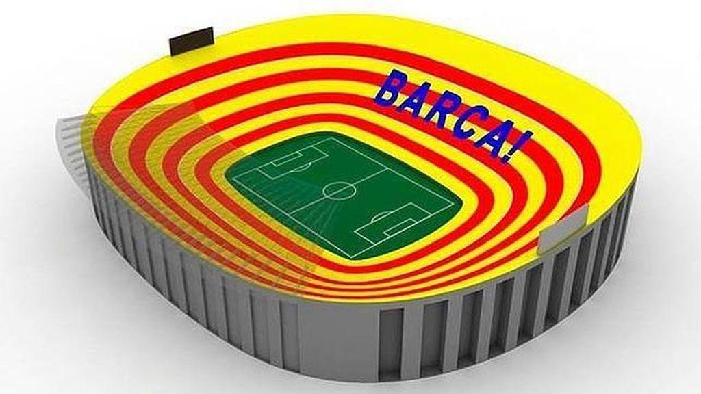 Este es el diseño del mosaico que adornará el Camp Nou en el Clásico