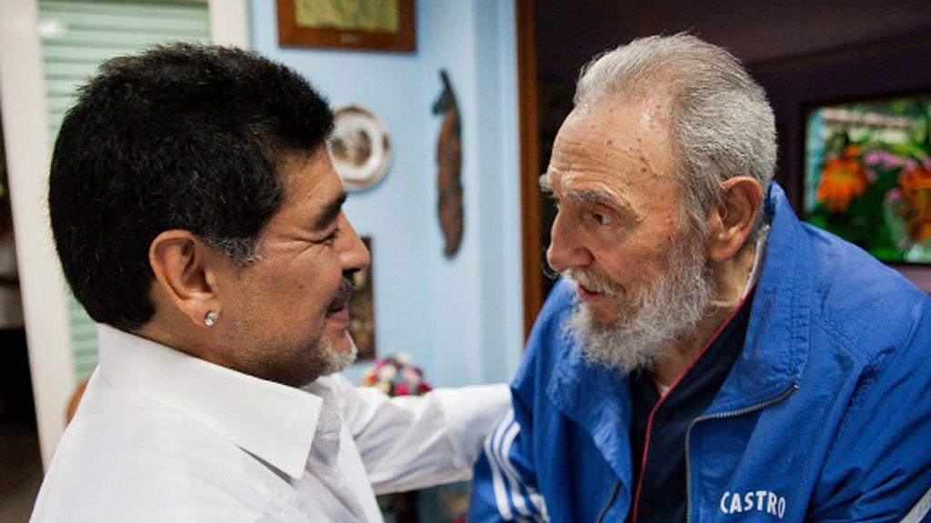 Fidel Castro se reune con Maradona en La Habana