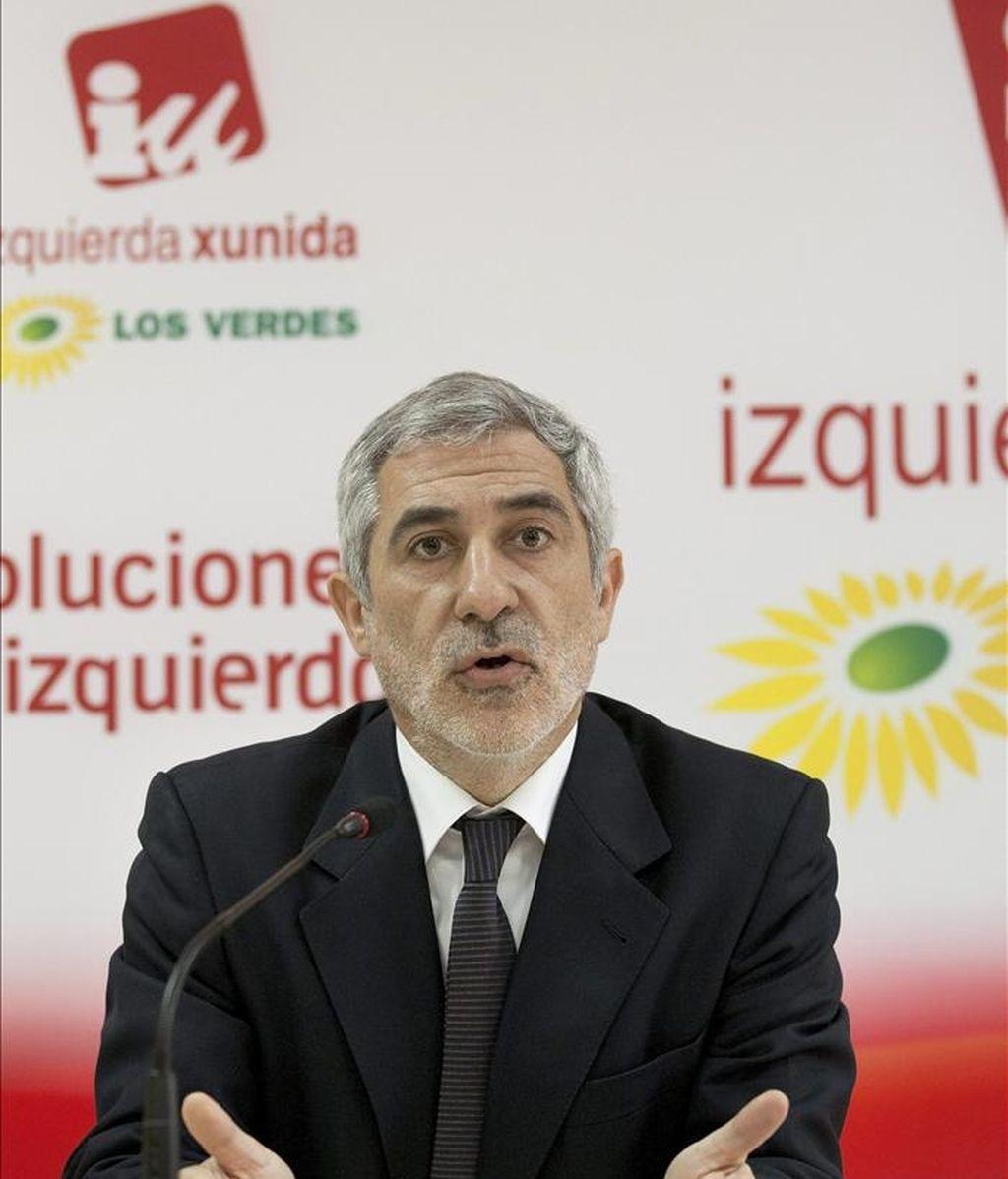 El diputado de IU-ICV Gaspar Llamazares. EFE/Archivo