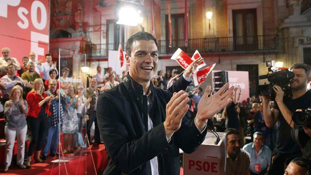 Inicio de campaña electoral del PSOE en Madrid