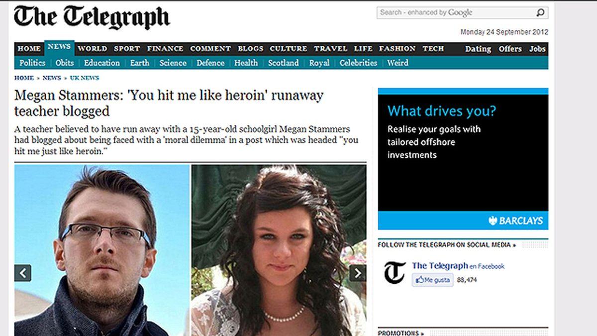 Profesor británico de matemáticas de 30 y su alumna de 15, se fugan
