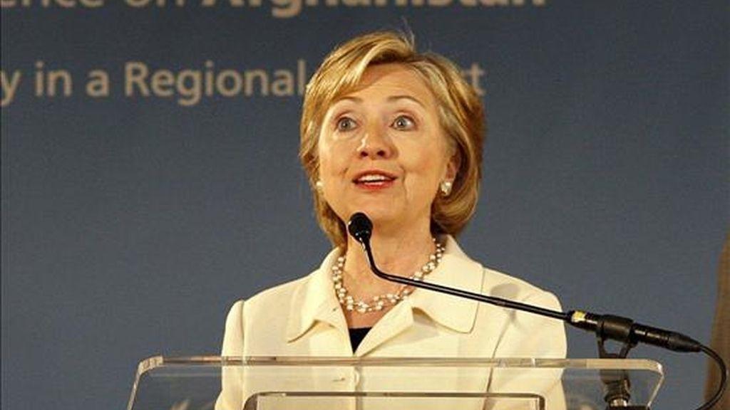 """La secretaria de Estado de EE.UU., Hillary Clinton, advirtió que la crisis económica global hace más susceptibles a las personas a ser sometidas a la """"esclavitud moderna"""". EFE/Archivo"""