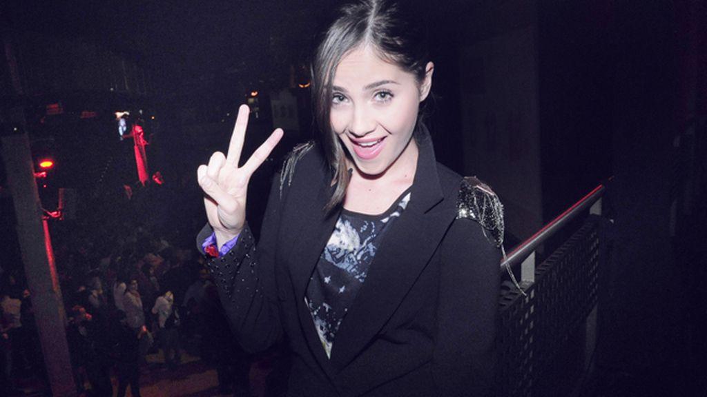 Lucía Ramos, fan declarada de Melendi, apostó por un look de lo mas rockero