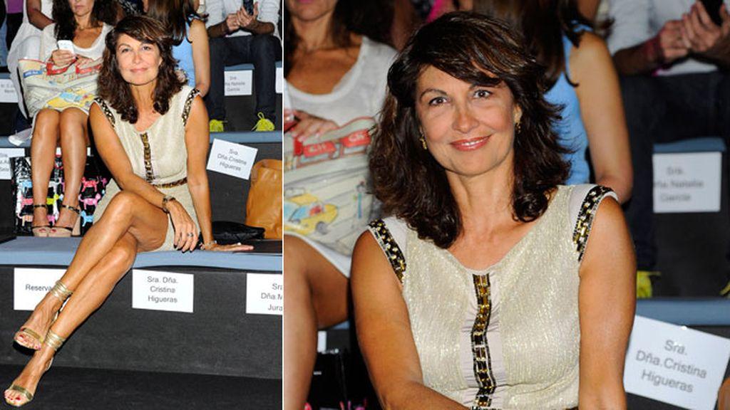 Cristina Higueras en el desfile de Roberto Verino