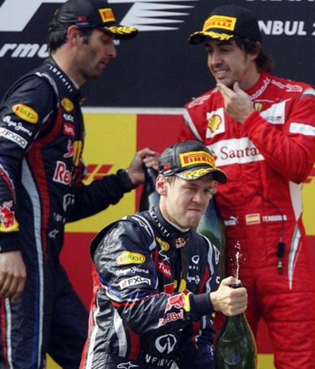Red Bull y Ferrari en el podio de Turquía