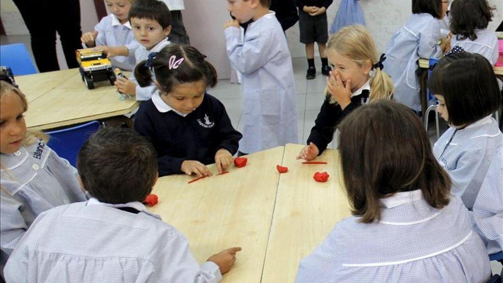 Alumnos de educación infantil en una clase. EFE/Archivo