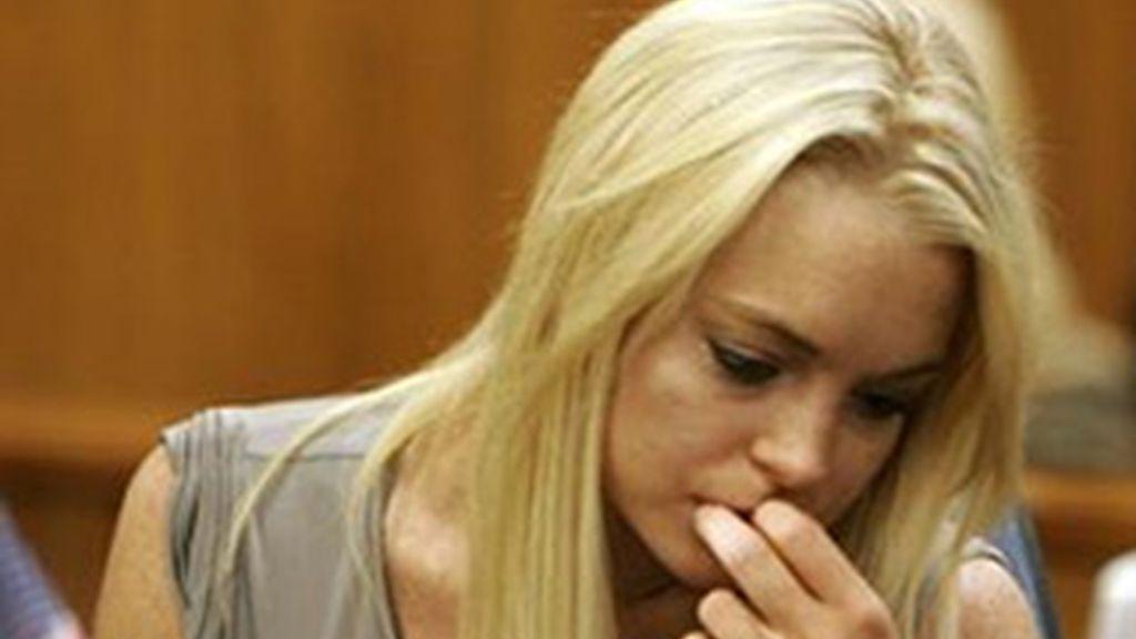 Lindsay Lohan en un momento del juicio. Foto: EFE/ Archivo