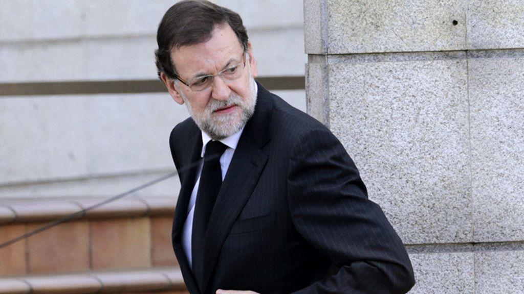 Llegada de Mariano Rajoy al tanatorio de Pontevedra
