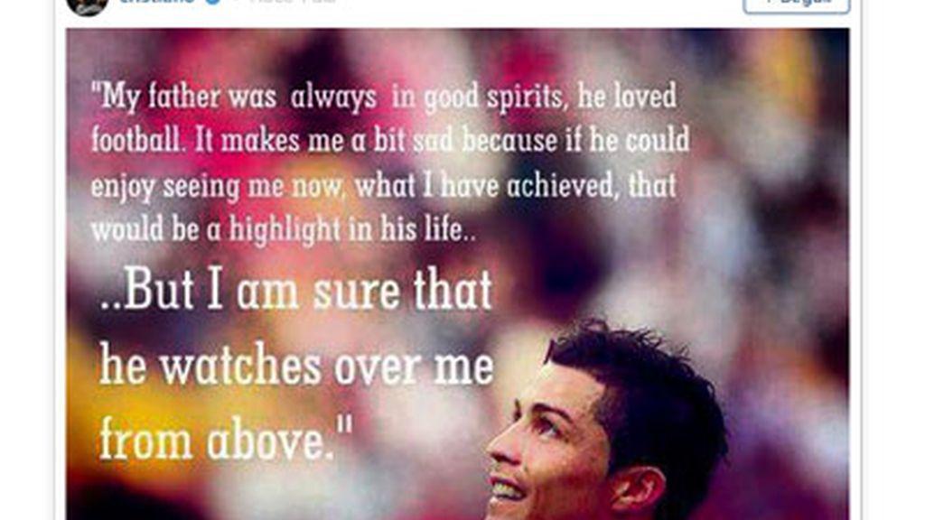 Cristiano Ronaldo recuerda a su padre en las redes sociales