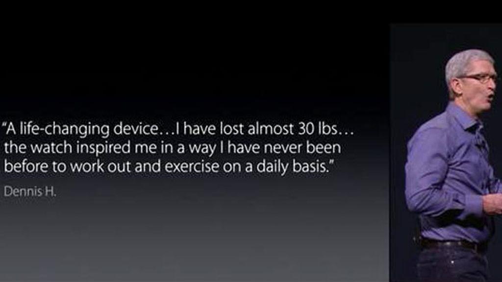 Tim Cook en la keynotes de Apple