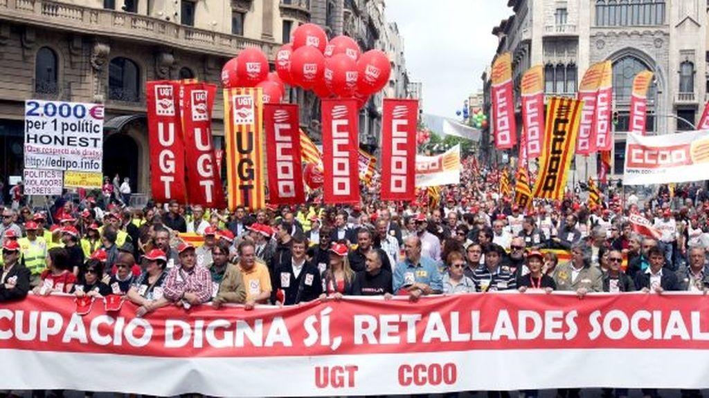 Manifestación en Valencia por el Día del Trabajo
