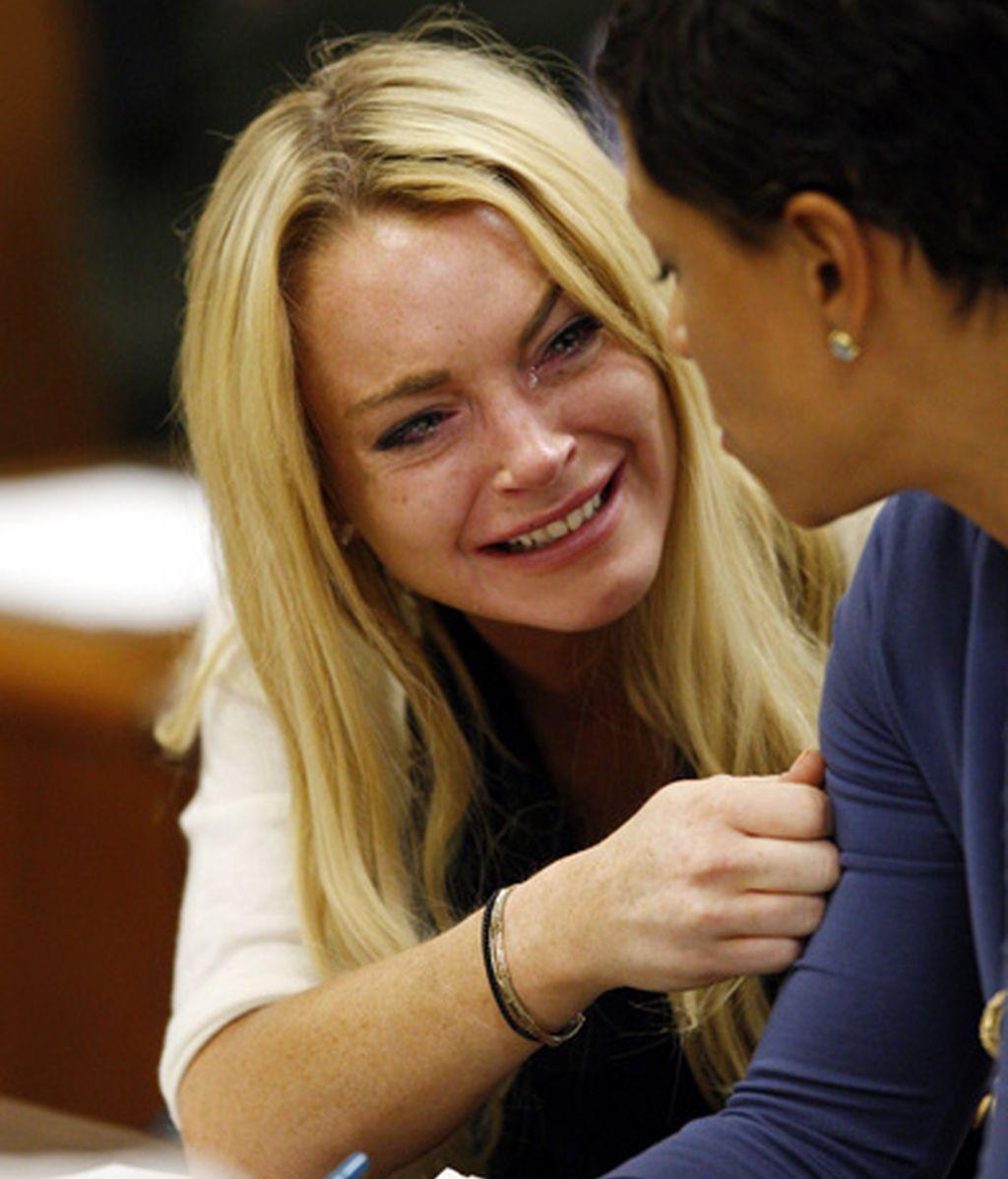 La reacción de Lindsay Lohan al ser condenada a prisión