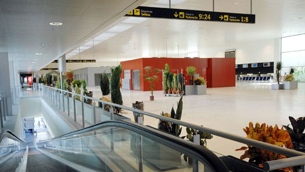 Interior del aeropuerto de Ciudad Real