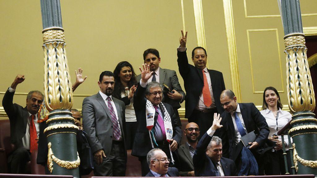 El Congreso pide por unanimidad el reconocimineto de Estado palestino