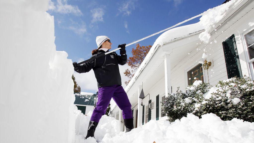 La costa noreste de EEUU ha sufrido una nevada prematura