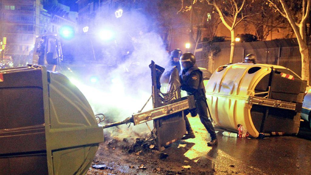 Altercados en Zaragoza en la manifestación en apoyo de Gamonal