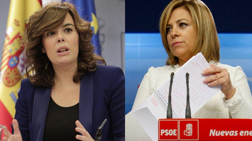 Soraya Sáenz de Santamaría y Elena Valenciano