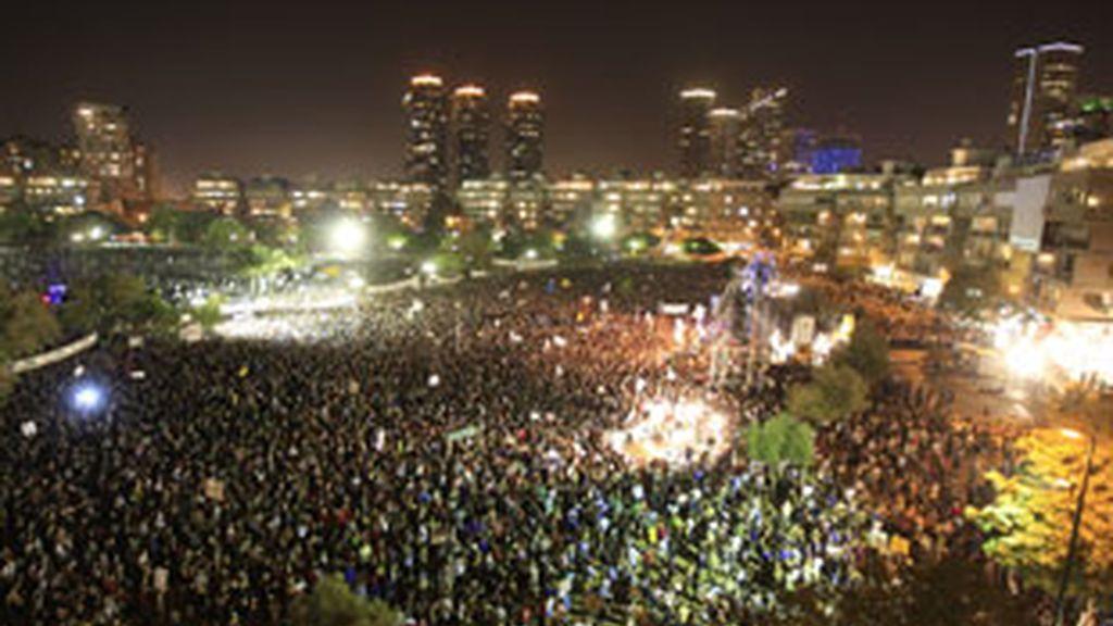 Imagen de la manifestación en Tel Aviv. Foto: Reuters