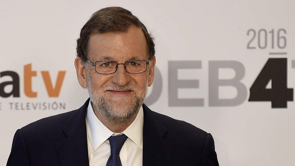 Mariano Rajoy, a su llegada