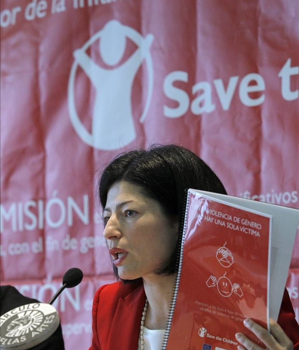 Yolanda Román, responsable de Advocacy y Campañas Save the Children, durante la presentación de un informe. EFE/Archivo