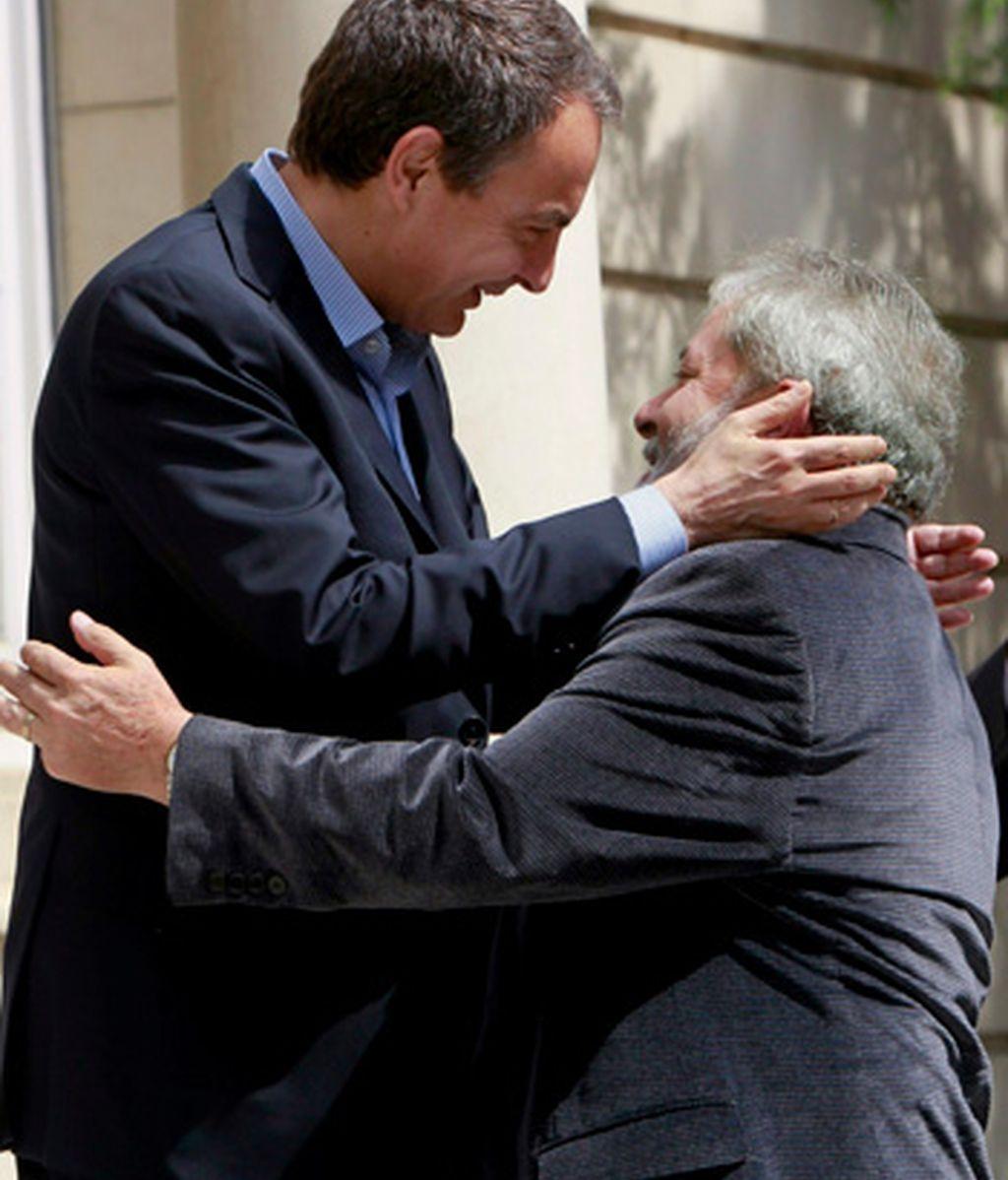 José Luis Rodríguez Zapatero y Lula da Silva. EFE
