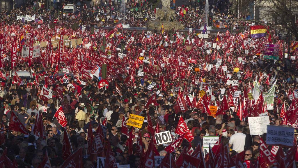 Manifestación en Madrid contra la reforma laboral y los recortes