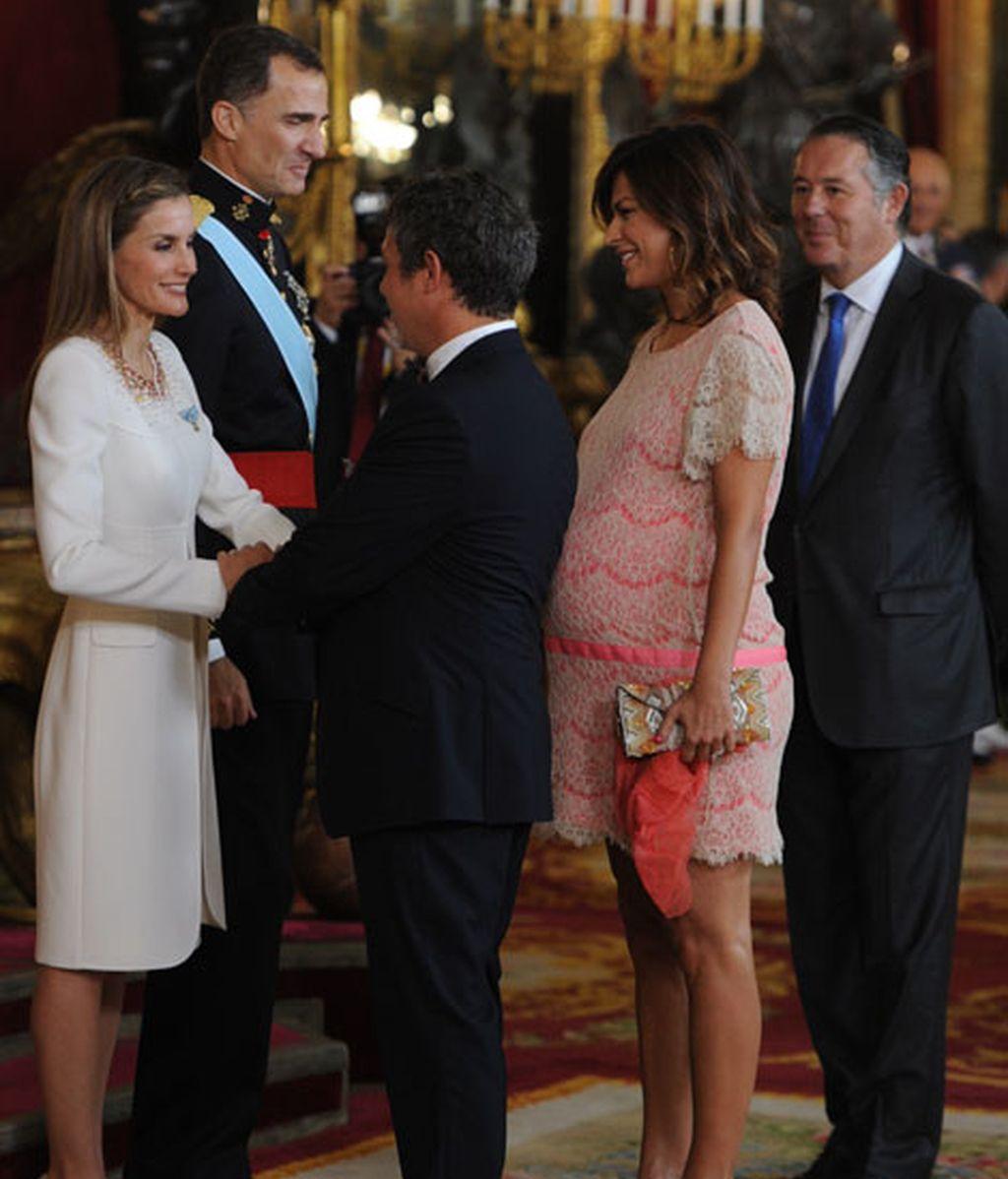 Alejandro Sanz ha acudido acompañado por su mujer, Raquel Perera