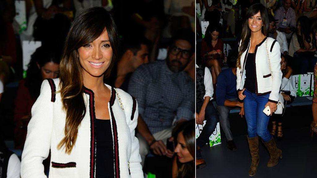 Marta González con un estilismo otoñal