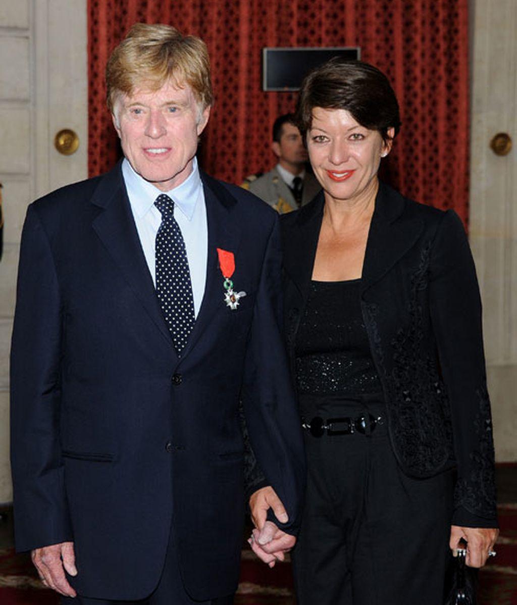 Con Sibylle Szaggars, su segunda mujer
